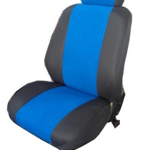 Ημικάλυμμα μαύρο τρυπητό ύφασμα με μπλε πετσέτα